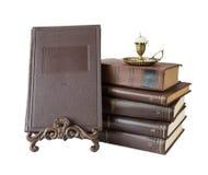 Zusammensetzung mit alten Büchern Stockbild