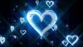 Zusammensetzung mit drehendem Herzen stock video footage
