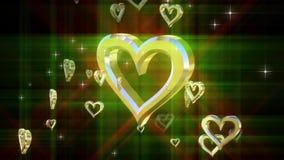 Zusammensetzung mit drehendem Herzen stock video