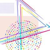 Zusammensetzung mit Rechtecken und Punkten, Linien stock abbildung