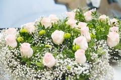 Zusammensetzung mit rosa Blumen Hintergrund nave Lizenzfreie Stockbilder
