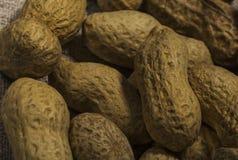 Zusammensetzung von den Erdn?ssen, die dienen, ?l, Erdnussbutter zu machen Gro? f?r gesunde und di?tetische Nahrung E lizenzfreie stockbilder
