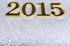 Zusammensetzung von den goldenen Zahlen 2015-jährig Stockfoto