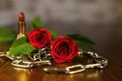 Zusammensetzung von der romantischen Ausrüstung Lizenzfreies Stockbild