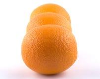 Zusammensetzung von drei Orangen Lizenzfreie Stockbilder