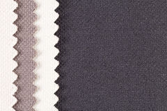 Zusammensetzung von farbigen Streifen des gezackten Baumwollgewebees Lizenzfreie Stockbilder