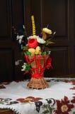 Zusammensetzung von künstlichen Blumen stockfoto