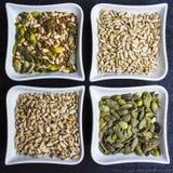 Zusammensetzung von mannigfaltigen Samen lizenzfreie stockfotografie