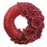 Zusammensetzung von Trockenblumen und von Beeren in der Form von Kreisisolator lizenzfreies stockfoto