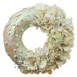 Zusammensetzung von Trockenblumen und von Beeren in der Form von Kreisisolator stockbild