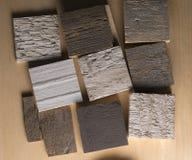 Zusammensetzung von verschiedenen Arten des Holzes Stockbild