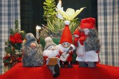 Zusammensetzung von Weihnachtsfigürchen Stockfotografie