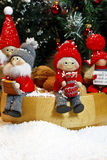 Zusammensetzung von Weihnachtsfigürchen Lizenzfreie Stockfotografie