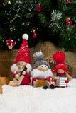 Zusammensetzung von Weihnachtsfigürchen Stockbild