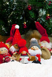 Zusammensetzung von Weihnachtsfigürchen Stockbilder