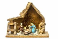 Zusammensetzung, welche die Geburt Christi von Christus darstellt stockfotografie