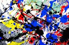 Zusammensetzungs-Grafikentwurf des Spaßes schöner des bunten Ausdrucks der abstrakten Kunst mit Spaßbürstenanschlag und Punktaqua lizenzfreie stockfotos