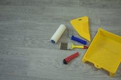 Zusammensetzungswerkzeuge für Hauptreparatur und Innenerneuerung zuhause lizenzfreie stockbilder