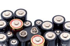 Zusammenstellung der Batterien Stockfotografie