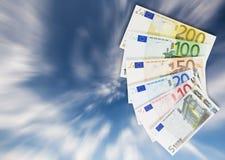 Zusammenstellung der Eurobanknoten. Lizenzfreie Stockfotografie