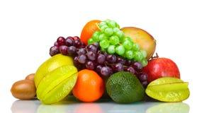 Zusammenstellung der exotischen Früchte Lizenzfreie Stockfotos