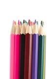 Zusammenstellung der farbigen Bleistifte lizenzfreies stockfoto