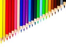 Zusammenstellung der farbigen Bleistifte Stockfotos