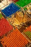 Zusammenstellung der farbigen Bleistifte Stockfotografie