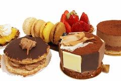 Zusammenstellung der kleinen Kuchen Stockfoto
