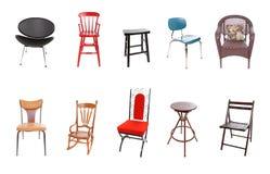 Zusammenstellung der Stühle Stockfotografie