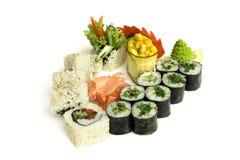 Zusammenstellung der Sushi Stockfotografie
