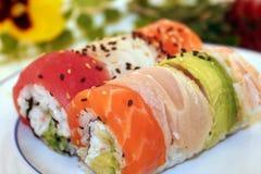 Zusammenstellung der Sushi stockbilder