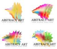Zusammenstellung des abstrakten Regenbogens Art Logos Lizenzfreie Stockfotos