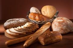 Zusammenstellung des gebackenen Brotes Lizenzfreies Stockbild