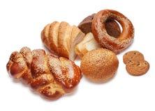 Zusammenstellung des gebackenen Brotes Stockfoto