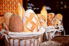 Nahaufnahme des gebackenen Brotes Stockfotografie