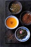 Zusammenstellung des trockenen Tees Stockfoto