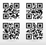 Zusammenstellung qr Code bereit, mit intelligentem Telefon zu scannen Lizenzfreie Stockfotografie