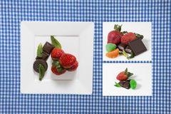 Zusammenstellung von Bonbons Stockfoto