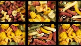 Zusammenstellung von den italienischen Teigwaren neun unterschiedlich Stockbild