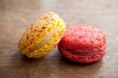 Zusammenstellung von französischen macarons Lizenzfreies Stockfoto