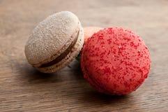 Zusammenstellung von französischen macarons Stockfotografie