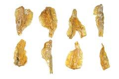 Zusammenstellung von getrockneten gesalzenen Pakang-Fischen Lizenzfreies Stockfoto