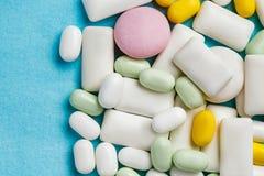 Zusammenstellung von Kaugummis, tadellose Süßigkeiten Stockbild