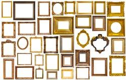 Zusammenstellung von Kunstrahmen stockbild