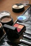 Zusammenstellung von makeups Stockbild