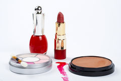 Zusammenstellung von makeups stockfotos