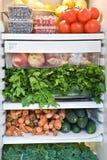 Zusammenstellung von Obst und Gemüse von Stockfoto