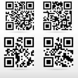 Zusammenstellungsbeispiel-qr Code bereit zu scannen Stockfotografie