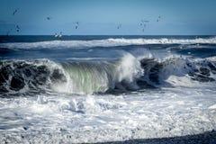 Zusammenstoßende Welle Stockbild